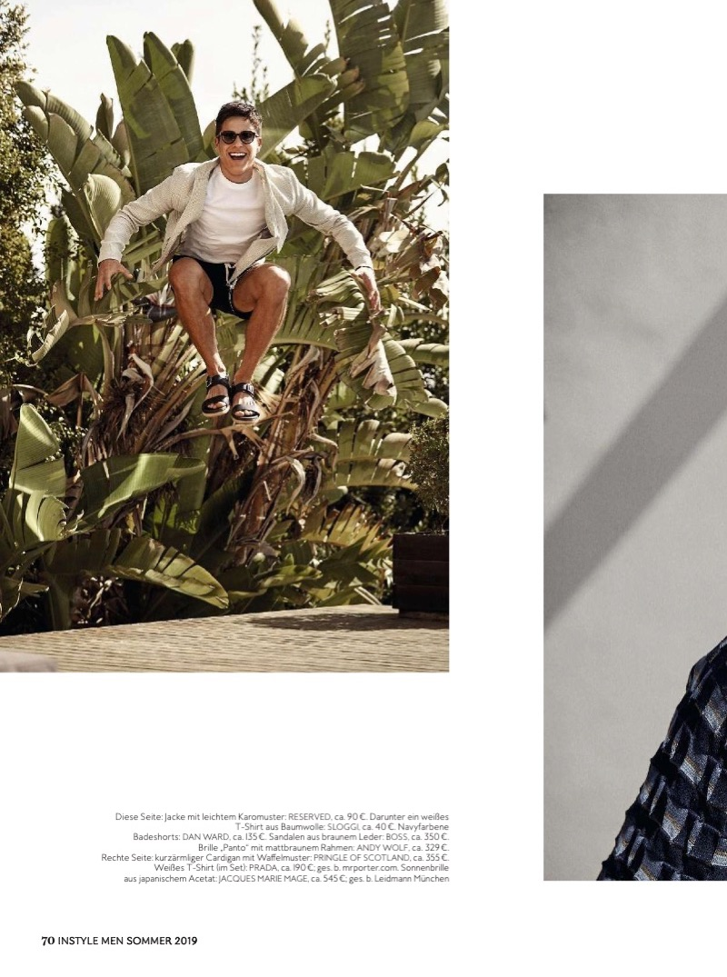 Pedro Maia is a 'Pool Boy' for InStyle Men Germany