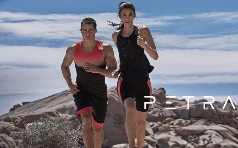 Running, models Cindy Mello and Pietro Boselli star in Petra's spring-summer 2019 campaign.