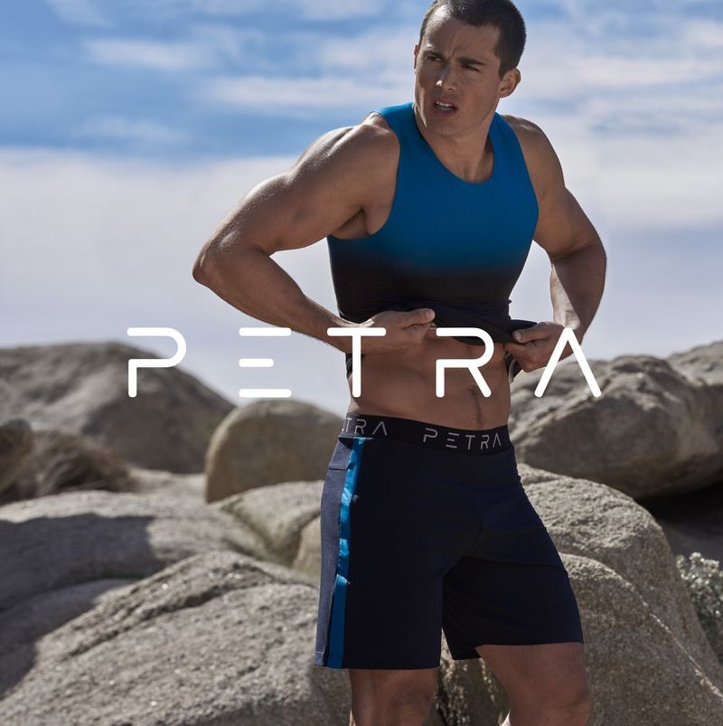 Pietro Boselli fronts the spring-summer 2019 campaign for his fitness apparel line Petra.