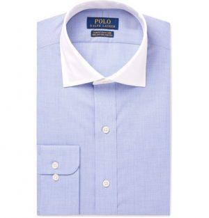Polo Ralph Lauren - Blue Slim-Fit Checked Cotton Shirt - Men - Blue