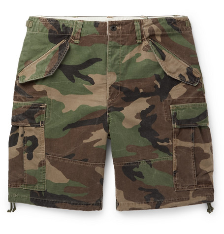 Cargo Men Polo Green Print Ralph Camouflage Shorts Lauren Cotton dsxtQhrC