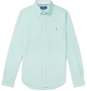 Polo Ralph Lauren - Slim-Fit Button-Down Collar Cotton Oxford Shirt - Men - Green