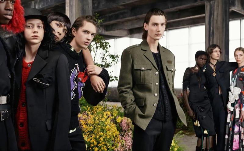 Models Jeremiah Fordjour, Nathan Westling, Yang Hao, Kirill Astashev, Wellington Grant, and Daan Duez star in Prada's fall-winter 2019 campaign.