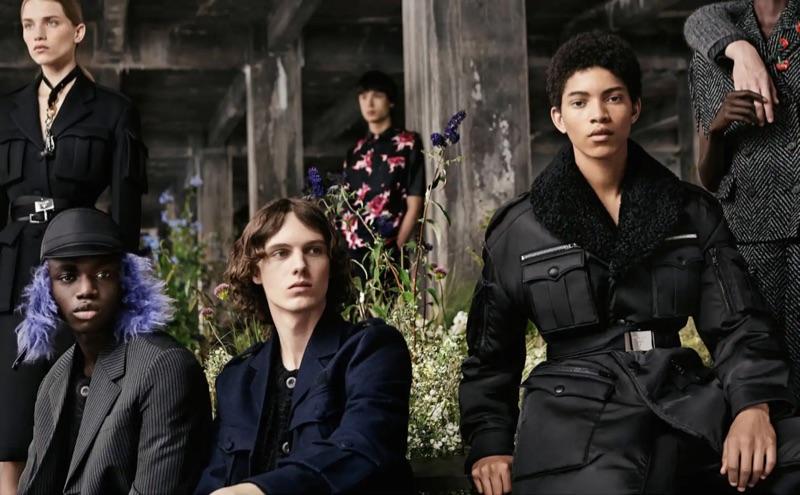Jeremiah Fordjour, Daan Duez, and Jeranimo van Russel appear in Prada's fall-winter 2019 campaign.