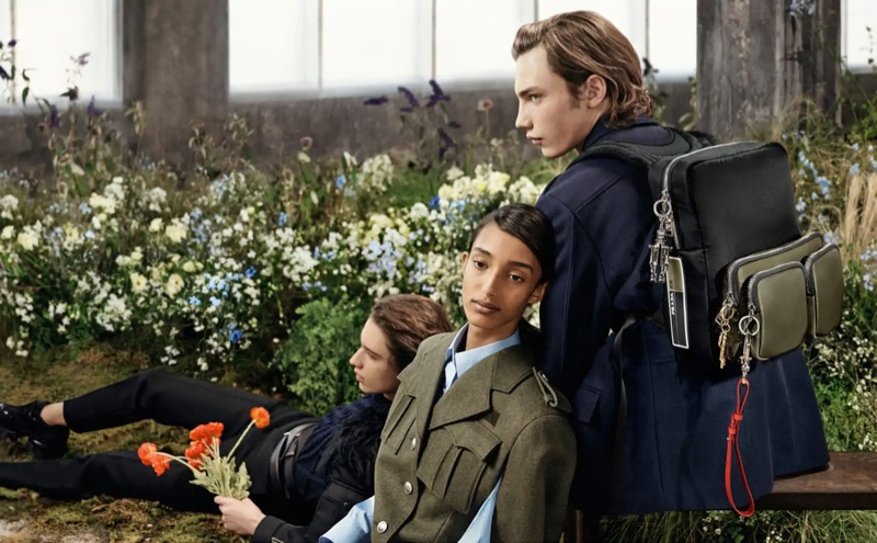 Mona Tougaard and Freek Iven star in Prada's fall-winter 2019 campaign.