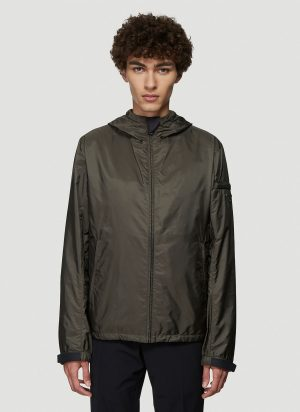Prada Hooded Nylon Jacket in Green size IT - 46