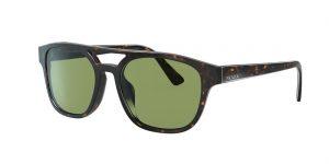 Prada Unisex PR 23VS - Frame color: Black, Lens color: Green, Size 56-19/145