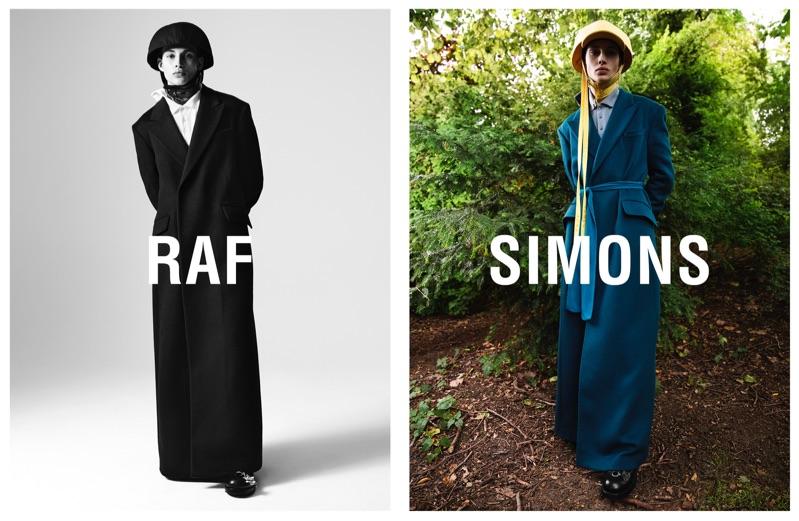 Misha Natali stars in Raf Simons' fall-winter 2019 campaign.