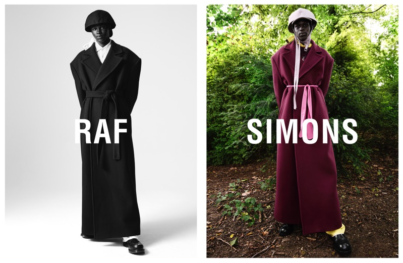 Mamadou Lo appears in Raf Simons' fall-winter 2019 campaign.