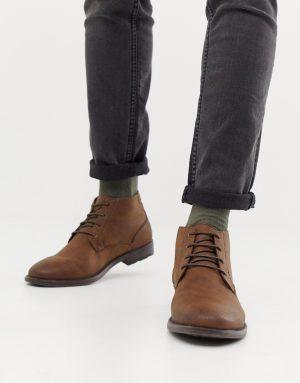 River Island chukka boot in brown - Brown