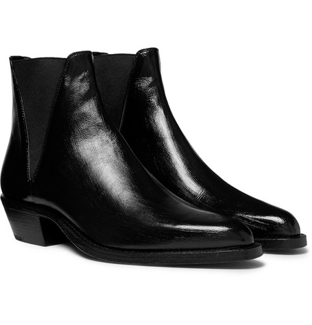 4cdbde7cabb SAINT LAURENT - Dakota Polished-Leather Chelsea Boots - Men - Black