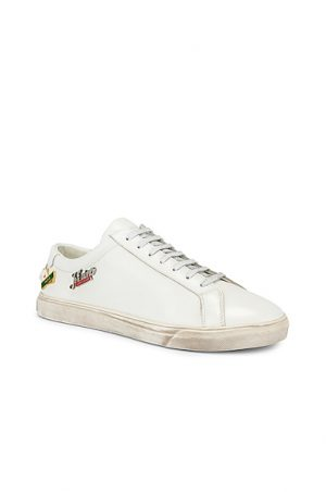 Saint Laurent Andy Low Tops in White. - size 41 (also in 44,42,41.5,42.5,45)