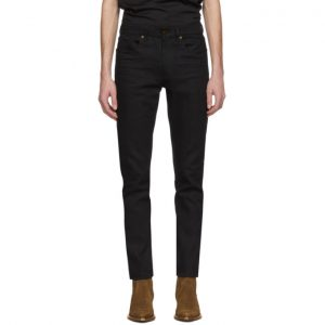 Saint Laurent Black Cropped Skinny Jeans
