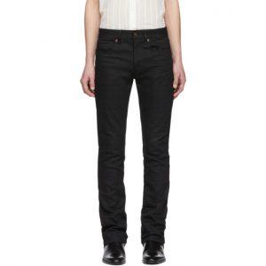 Saint Laurent Black Low-Waisted Boot Cut Jeans