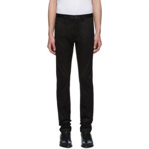 Saint Laurent Black Raw Stretch Trousers