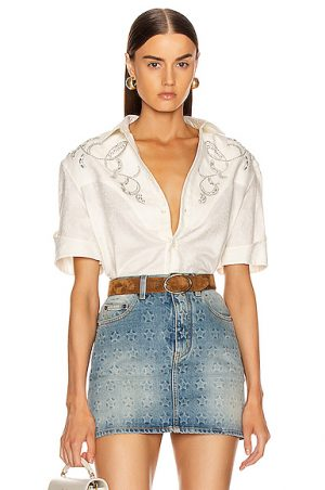 Saint Laurent Western Shirt in White. - size 39 (also in )