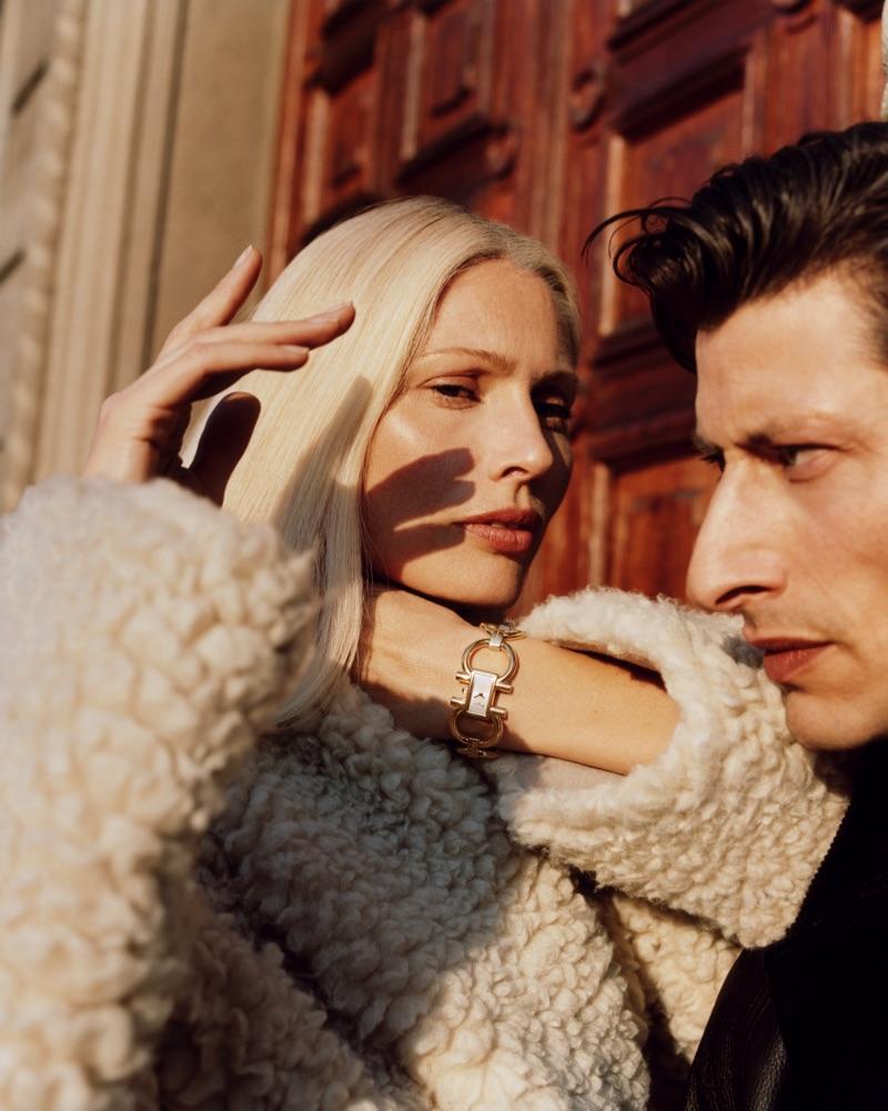 Kirsty Hume and Jonas Mason appear in Salvatore Ferragamo's fall-winter 2019 campaign.