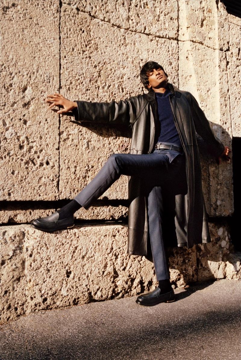 Living his best life, Rishi Robin appear in Salvatore Ferragamo's fall-winter 2019 campaign.