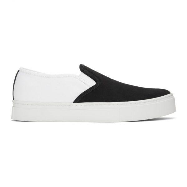 Saturdays NYC Black Suede Combo Vass Slip-On Sneakers