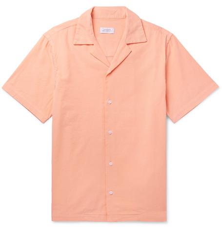 Saturdays NYC - Camp-Collar Cotton-Corduroy Shirt - Men - Peach