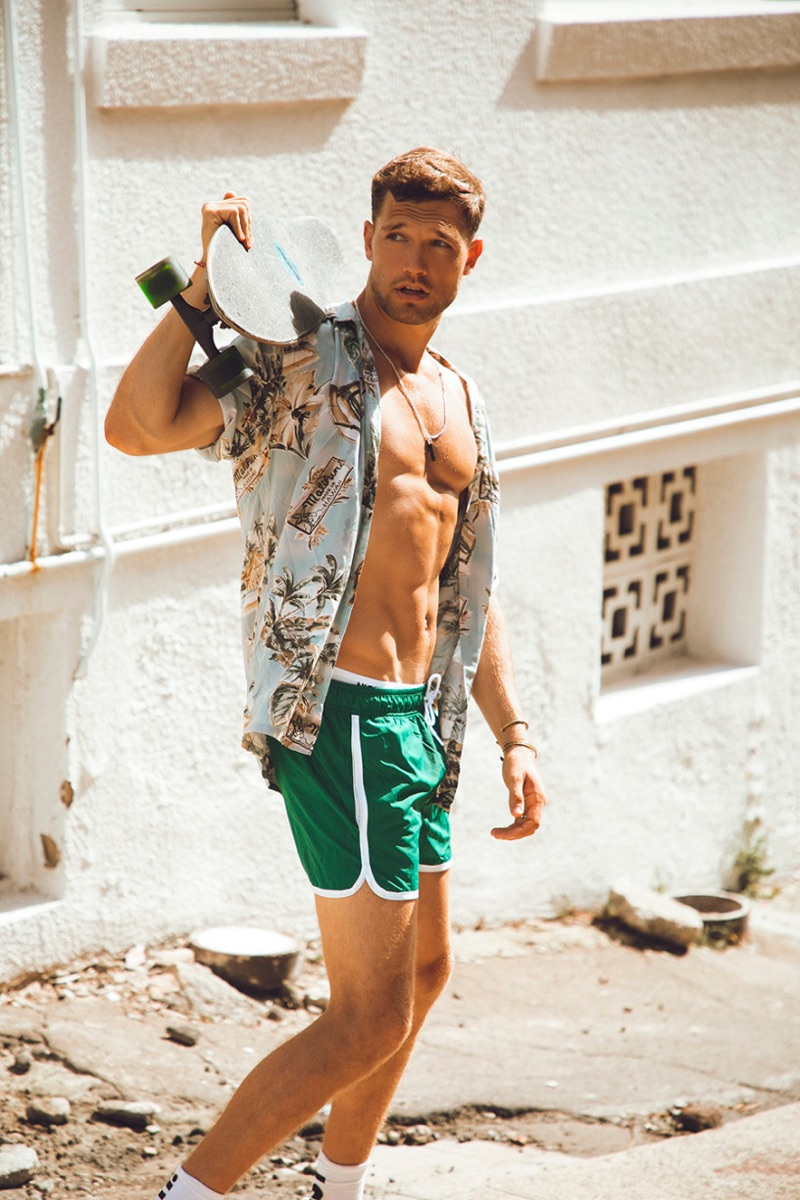 Stefan Pollmann Embraces Summer Vibe for Victor Magazine