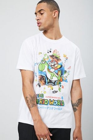 Super Mario Graphic Tee at Forever 21 White/multi