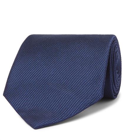 TOM FORD - 8cm Jacquard Tie - Men - Navy