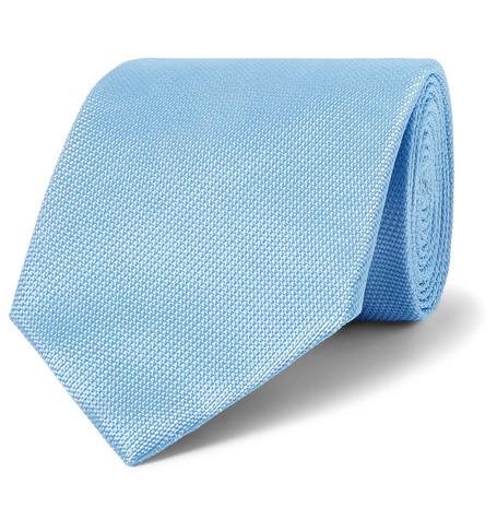 TOM FORD - 8cm Woven Tie - Men - Light blue