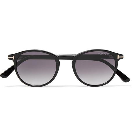 TOM FORD - Andrea-02 Round-Frame Acetate Sunglasses - Men - Black