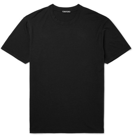 TOM FORD - Lyocell and Cotton-Blend Jersey T-Shirt - Men - Black