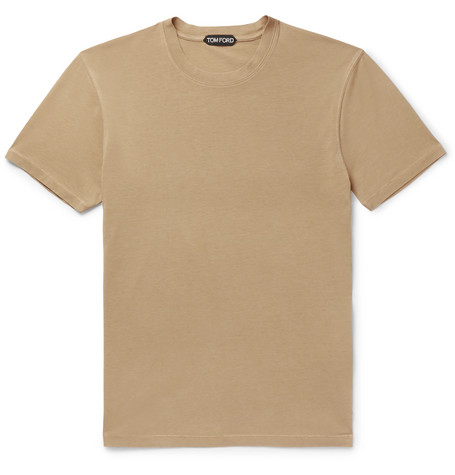 TOM FORD - Lyocell and Cotton-Blend Jersey T-Shirt - Men - Camel
