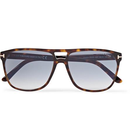 TOM FORD - Shelton Square-Frame Tortoiseshell Acetate Sunglasses - Men - Tortoiseshell