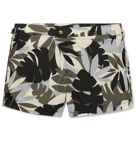 TOM FORD - Slim-Fit Mid-Length Printed Swim Shorts - Men - Multi