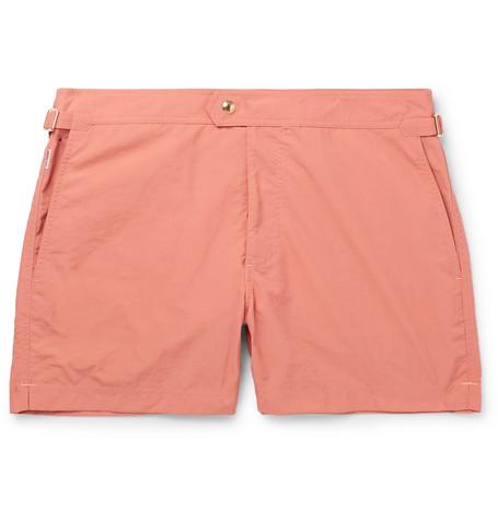 TOM FORD - Slim-Fit Mid-Length Swim Shorts - Men - Orange