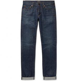 TOM FORD - Slim-Fit Selvedge Denim Jeans - Men - Dark denim
