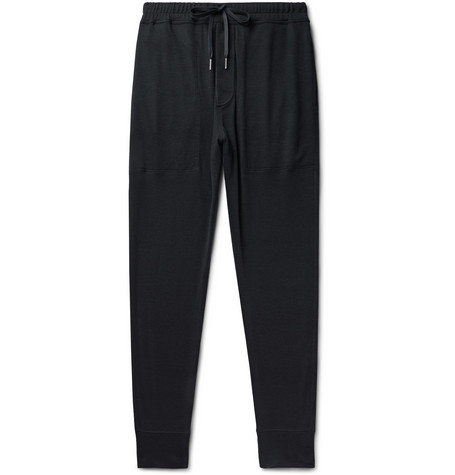 TOM FORD - Tapered Cashmere Sweatpants - Men - Midnight blue