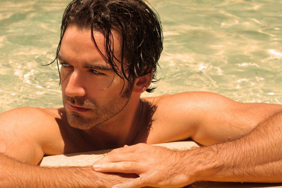 Tan Man in Pool