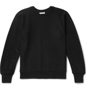The Row - George Loopback Cotton-Jersey Sweatshirt - Men - Black