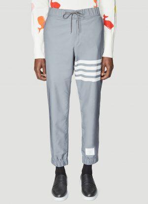 Thom Browne 4 Bar Track Pants in Grey size JPN - 5