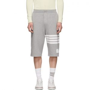 Thom Browne Grey 4-Bar Classic Sweat Shorts