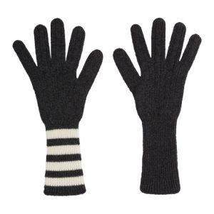 Thom Browne Grey Four Bar Stripe Gloves