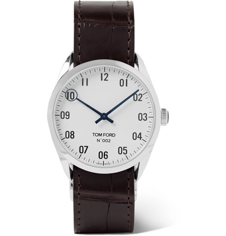Tom Ford Timepieces - 002 38mm Stainless Steel and Alligator Watch - Men - White
