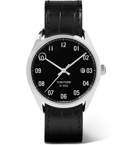 Tom Ford Timepieces - 002 40mm Stainless Steel and Alligator Watch - Men - Black