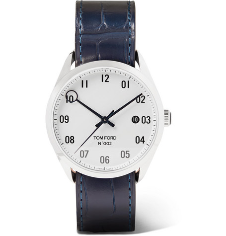 Tom Ford Timepieces - 002 40mm Stainless Steel and Alligator Watch - Men - White