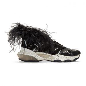 Valentino Black Valentino Garavani Camo Feather Bounce Sneakers