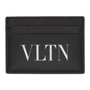 Valentino Black Valentino Garavani VLTN Card Holder