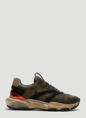 Valentino Camouflage Bounce Sneakers in Green size EU - 45