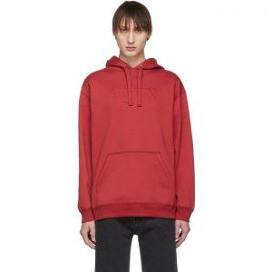Valentino Red Raised VLTN Logo Hoodie