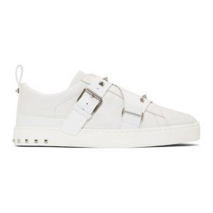 Valentino White Valentino Garavani V-Punk Slip-On Sneakers