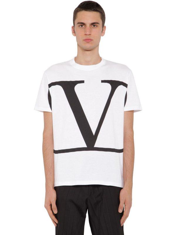 Vlogo Print Cotton Jersey T-shirt